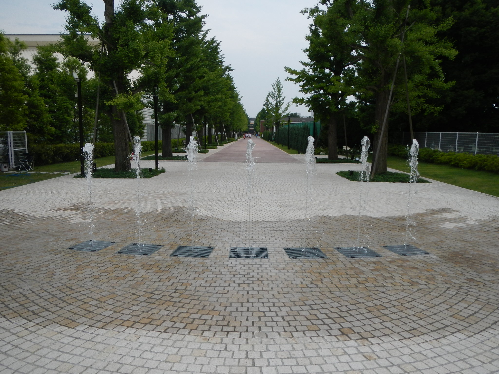 【噴水】昭島市 昭和の森 いちょう並木噴水施工