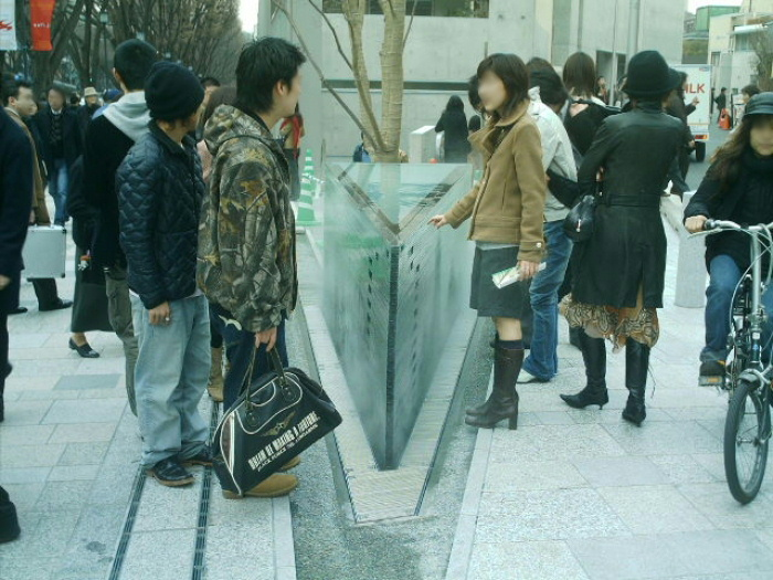 【噴水】表参道ヒルズ ミスト装置