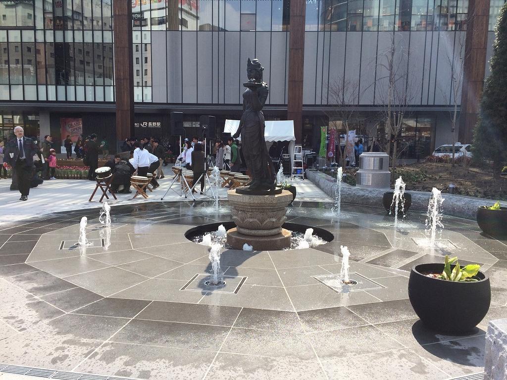 【噴水】長野駅前 噴水改修  設計・施工(長野県)