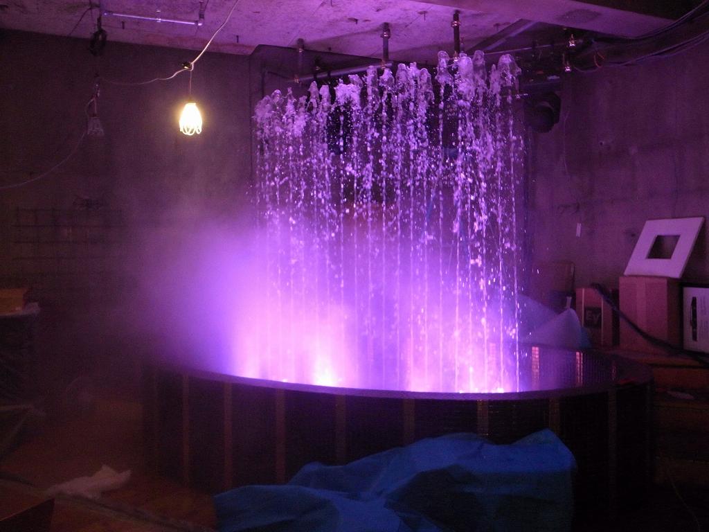 【噴水】新宿歌舞伎町ギャツビーハウス 音楽噴水施工(新宿区)
