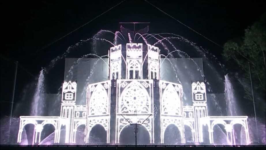 【噴水ショー】さがみ湖プレジャーフォレスト さがみ湖イルミリオン 音楽噴水ショー2016(神奈川県)