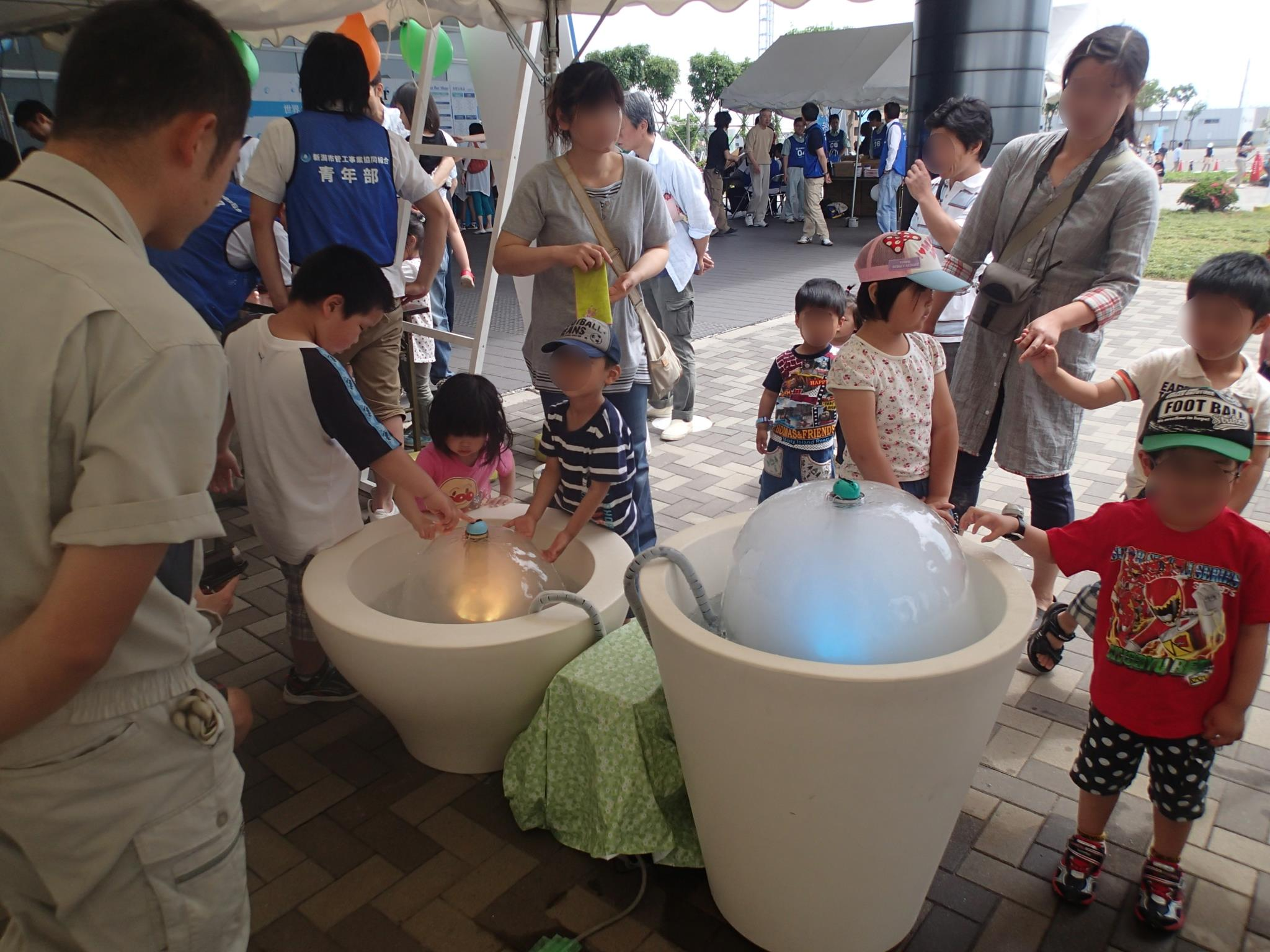 【レンタル噴水】パステルマッシュルーム噴水