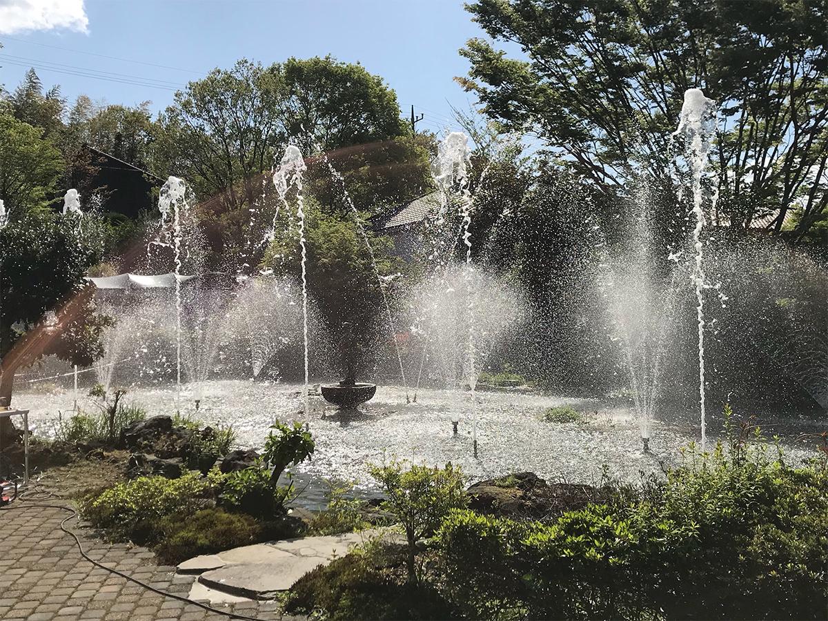 【噴水ショー】伊豆高原温泉ホテル 森の泉 音楽噴水ショー 設計・施工(静岡)