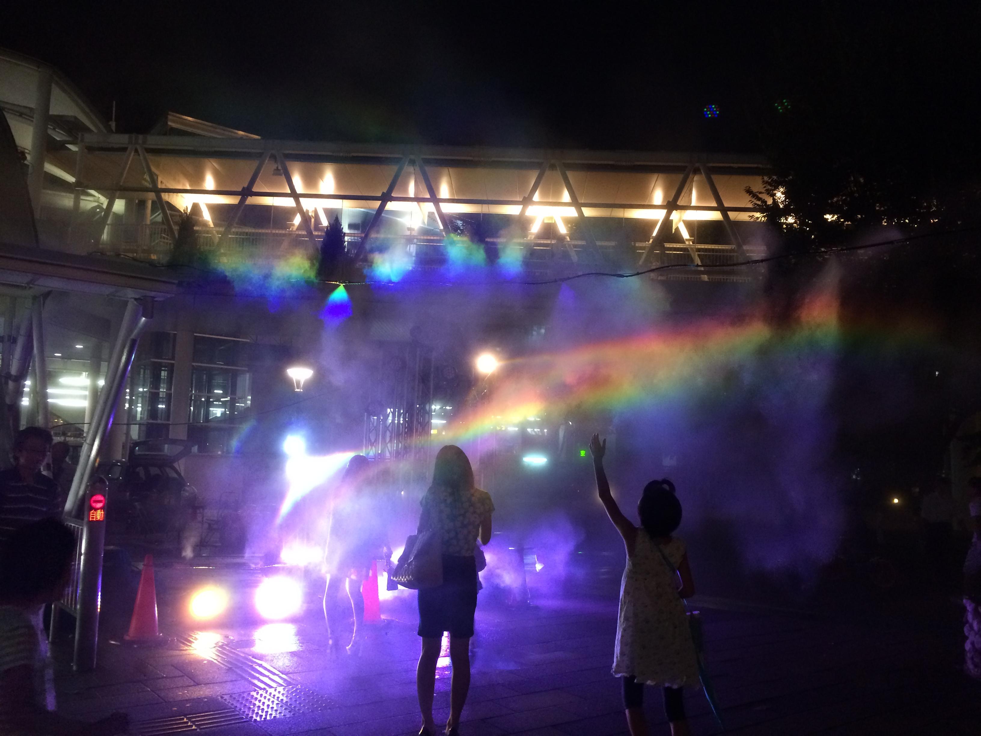 【レンタル噴水】虹の噴水 ミスト噴水