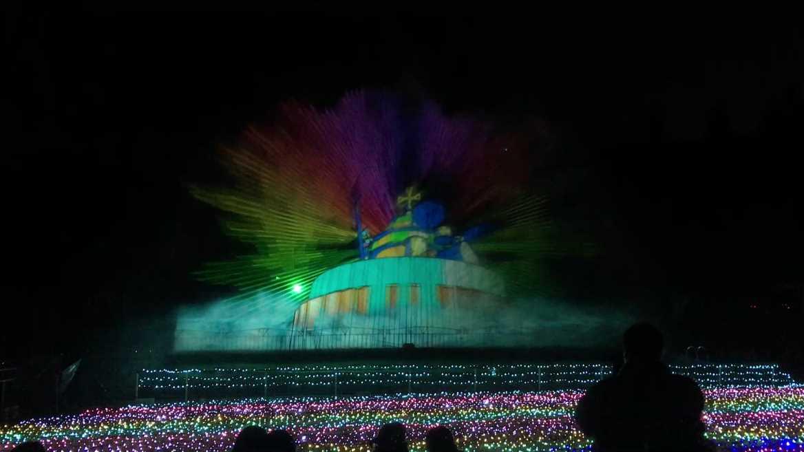 【レンタル噴水】みろくの里 ウォータースクリーン レンタル(広島県)