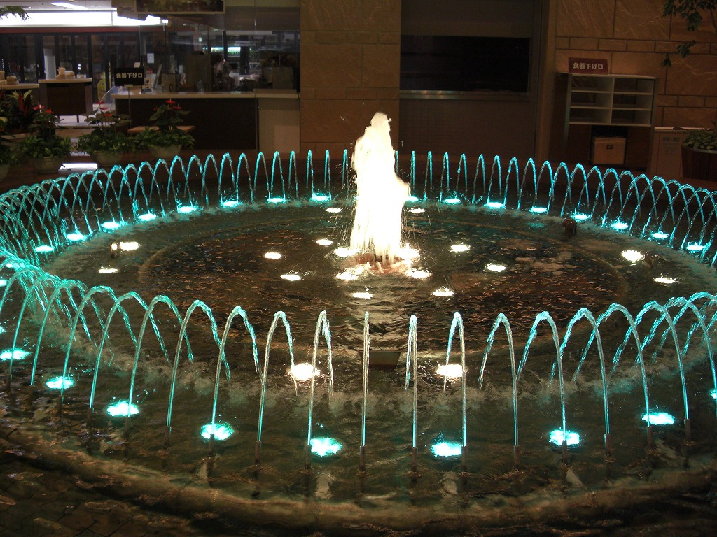 羽田空港 噴水 照明施工(大田区)