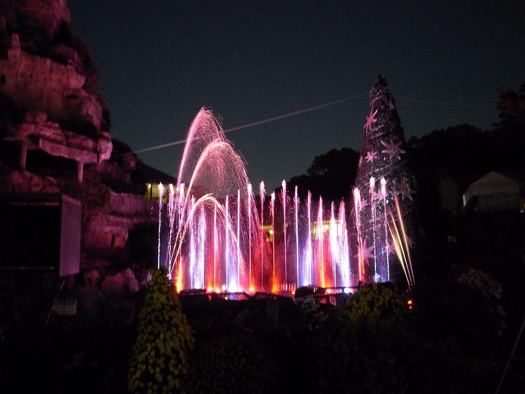 【噴水ショー】ひらかたパーク イルミネーション音楽噴水ショー(大阪府)