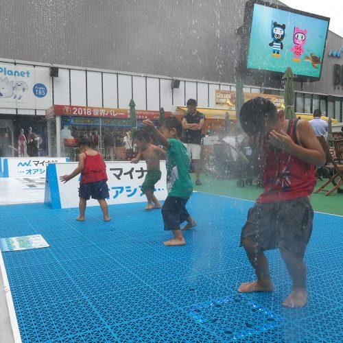赤坂サカス「TBS夏サカス2018」 パレット噴水 レンタル