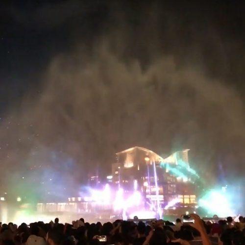 【レンタル噴水】神戸ハーバーランドumie ウォータースクリーン施工(兵庫県)