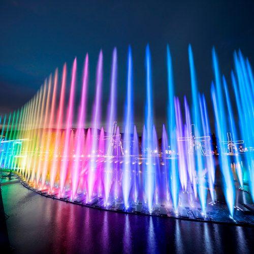 長崎ハウステンボス 光の噴水ショー「ウォーターマジック」