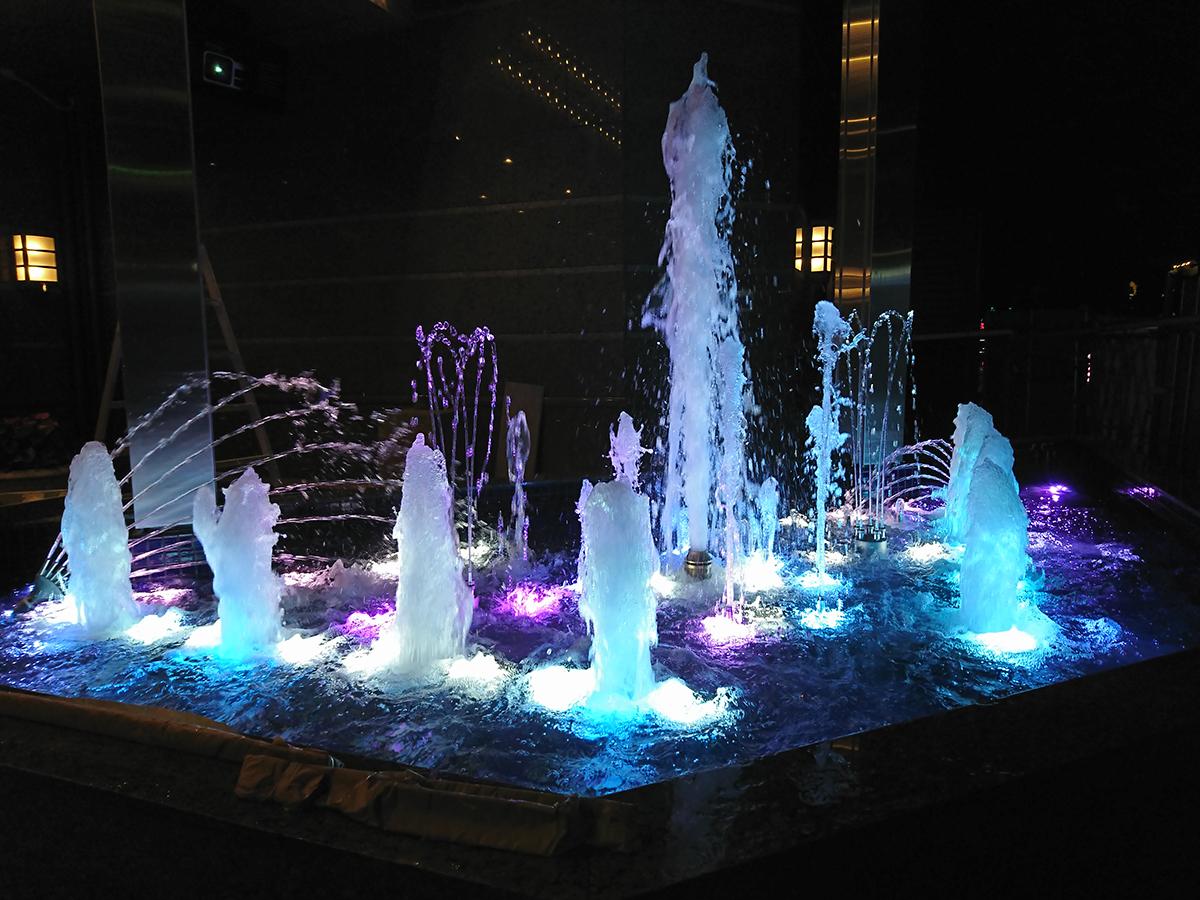 ホテル ベルクラシック東京 音楽噴水ショー施工(豊島区)