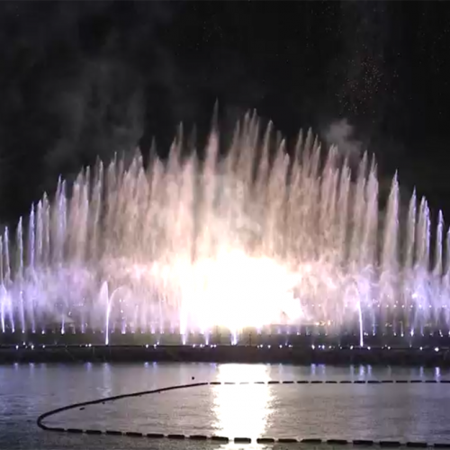 We ♥ NAMIE HANABI SHOW  音楽噴水設置(沖縄)