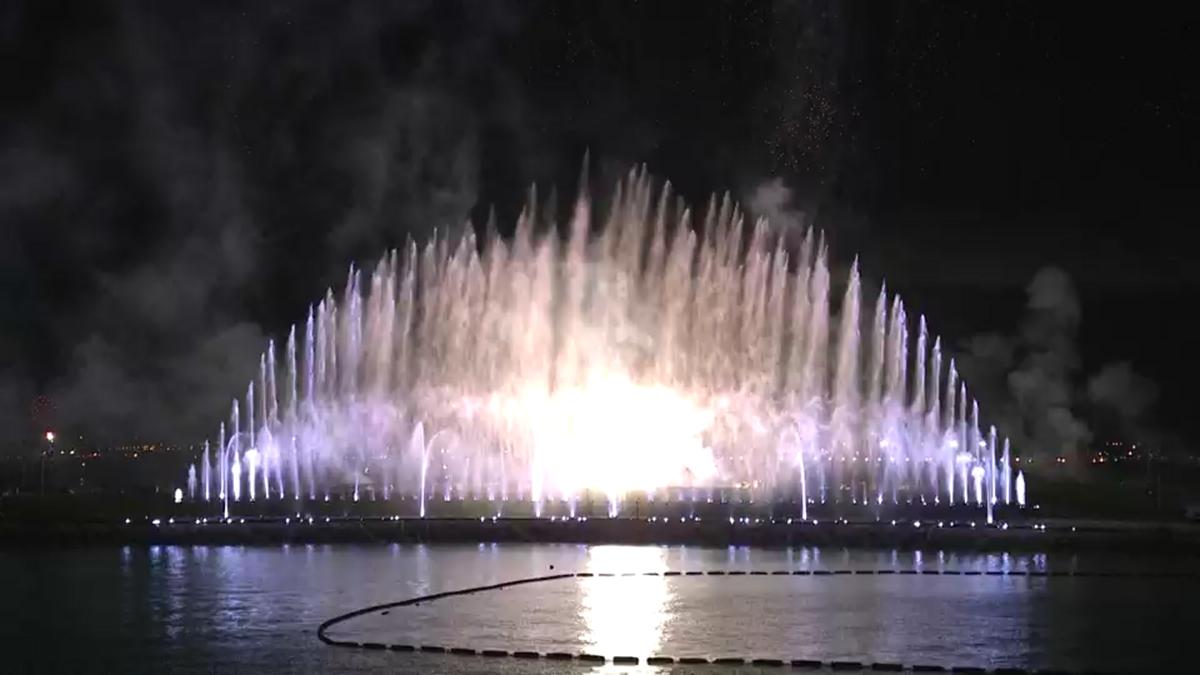【噴水ショー】We ♥ NAMIE HANABI SHOW  噴水演出レンタル(沖縄)