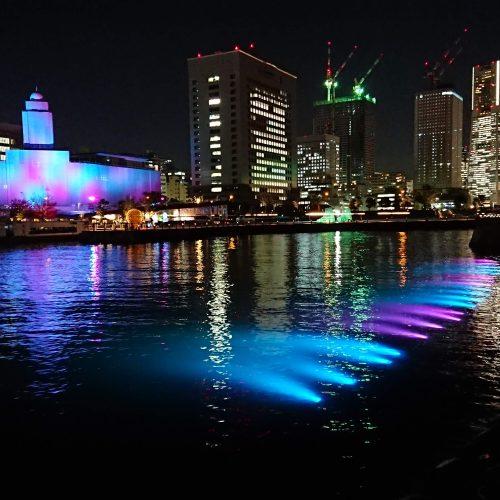 【照明演出】水中LED照明設置 スマートイルミネーション横浜2018