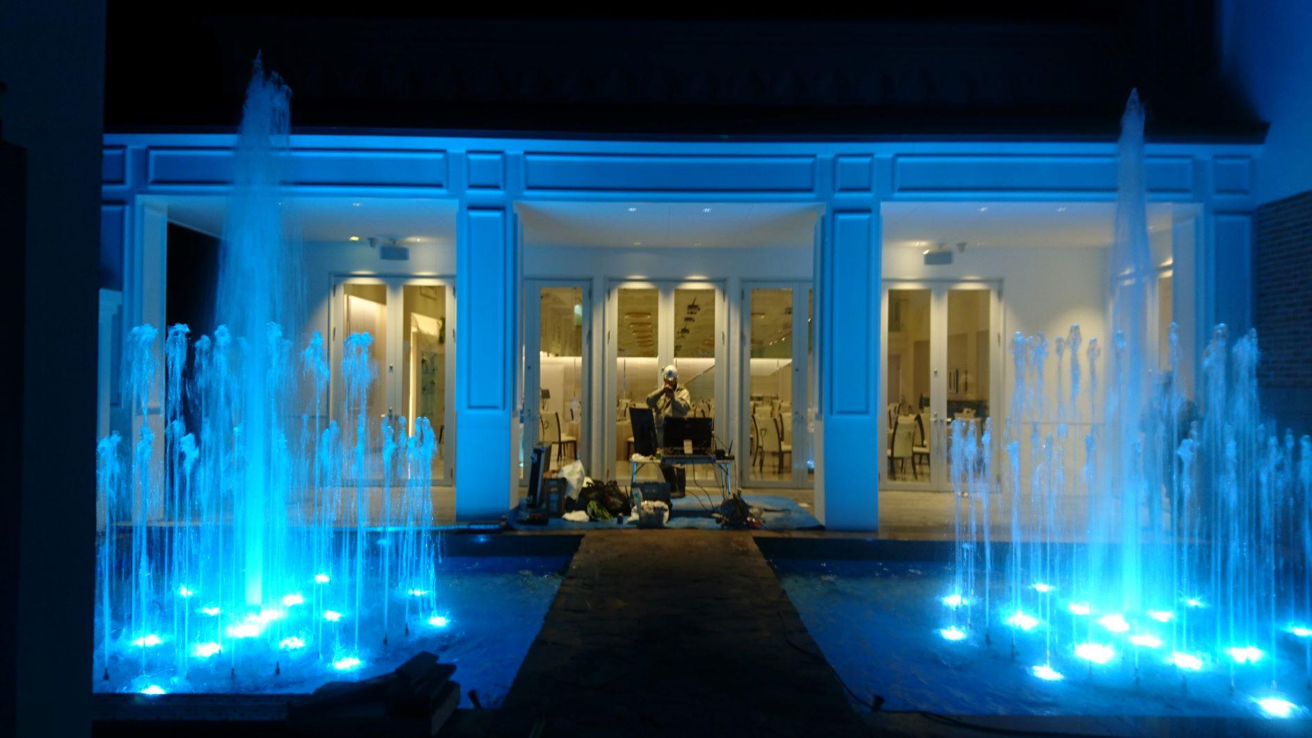 結婚式場「Accue Marie(アクーユ・マリエ)TAMAHIME」新規噴水施工(山形県)
