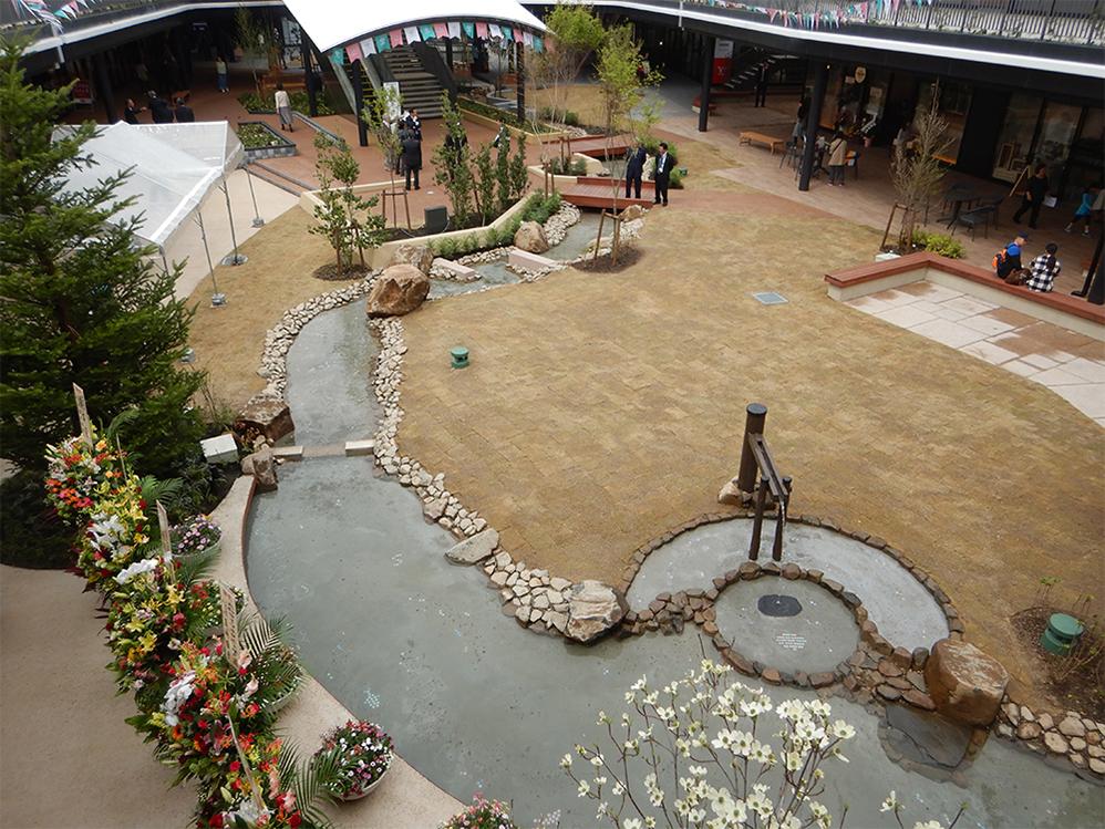 【水景設備】ブランチ仙台水景施設 設計・施工(宮城県)