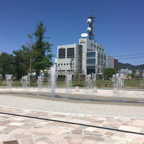 【噴水】長野駅東口公園親水施設 設計・施工(長野県)