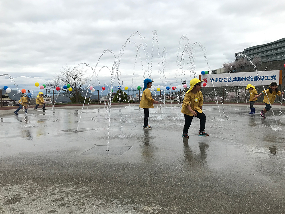 【噴水】やまびこ広場親水施設 設計・施工(長野県)
