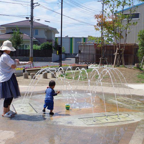 【噴水】新田ふれあい公園 親水施設設計・施工(埼玉県)