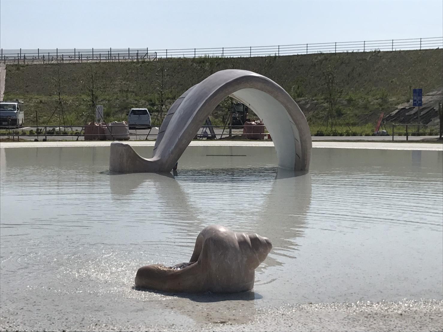 【じゃぶじゃぶ池】釣師防災緑地公園 親水施設設計・施工(福島県)