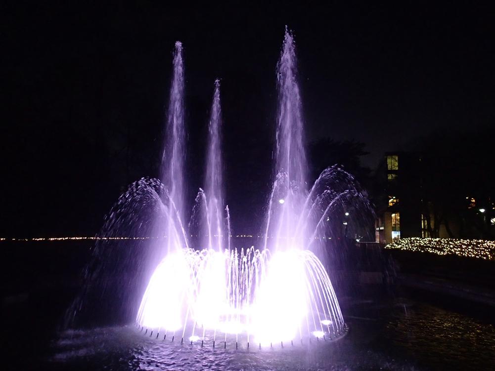 【照明レンタル】日本薬科大学 さいたまキャンパス 水中LED照明レンタル(埼玉県)