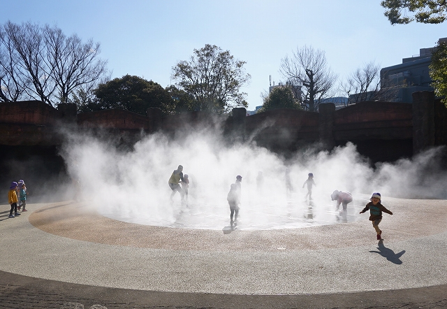 【ミスト】大森貝塚遺跡庭園 走って遊べるミスト広場改修工事(東京都品川区)