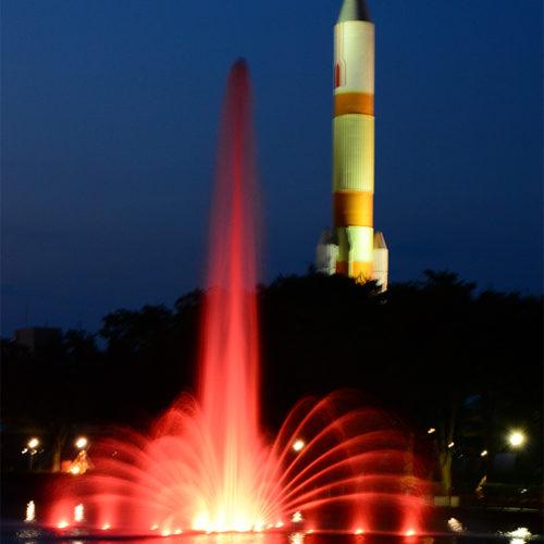 【噴水】中央公園 水景設備改修・ライトアップ工事(茨城県つくば市)