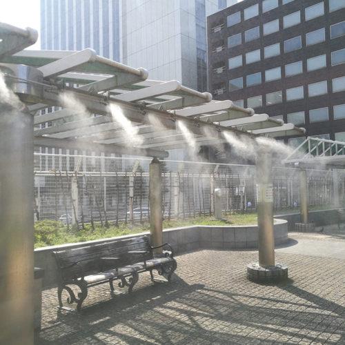 【ミスト】築地川銀座公園 ミスト装置設計・施工(東京都中央区)