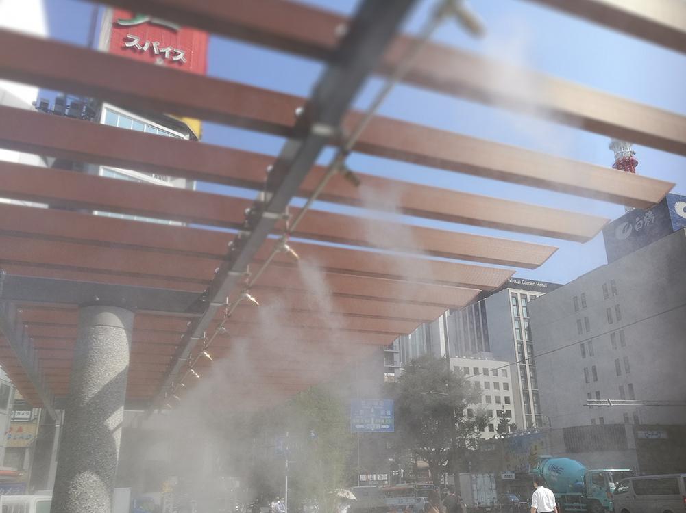 【ミスト】三原橋 ミスト装置設計・施工(東京都中央区)