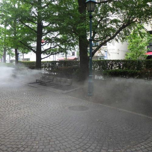【ミスト】浜町公園前緑道 ミスト装置設計・施工(東京都中央区)