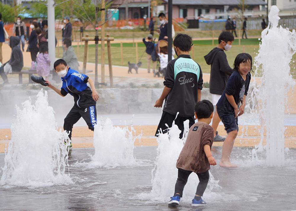 【噴水】今之浦公園 親水設備 設計・施工(静岡県)
